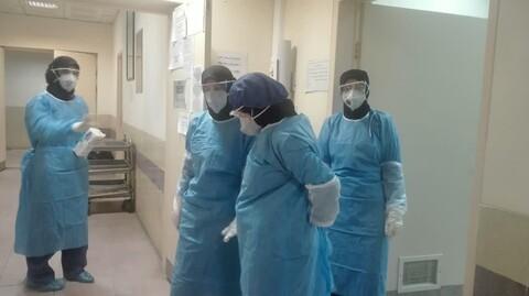 تصاویر/ فعالیت بانوان جهادی در خدمت به بیماران کرونایی