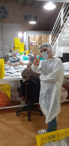 تصاویر شما/ مبارزه با ویروس کرونا توسط طلاب جهادی