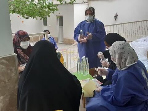 تصاویر/ کارگاه بسته بندی اقلام بهداشتی و ضدعفونی بانوان جهادگر کاشانی