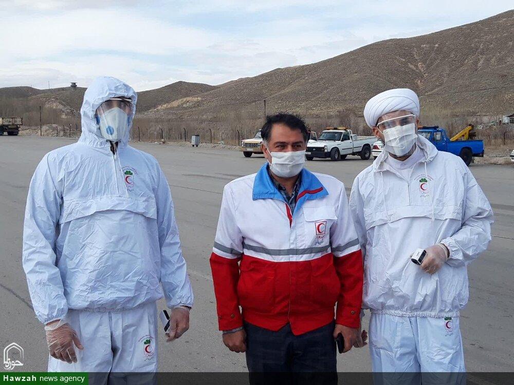 فعالیت های طلاب جهادی مدرسه علمیه حضرت ولیعصر(عج)تبریز در مبارزه با ویروس کرونا