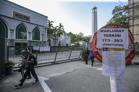 تعطیلی مساجد در پنانگ تا ۱۵ روز دیگر تمدید شد