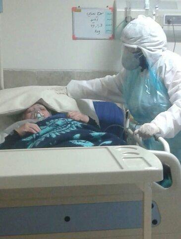 حضور بانوان طلبه در بیمارستان های کرونایی