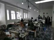 بازدید امام جمعه ماکو از کارگاه تولید ماسک+ عکس