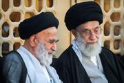 تصاویری از آیتالله سیدجعفر کریمی در کنار رهبر معظم انقلاب