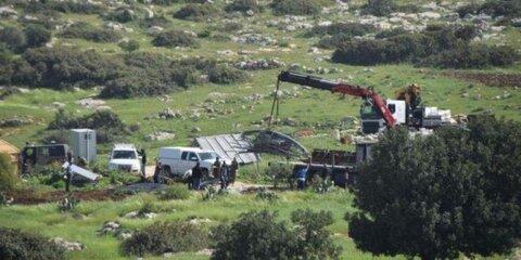 صهیونیست ها بیمارستان کرونا را در روستای فلسطینی تخریب کردند