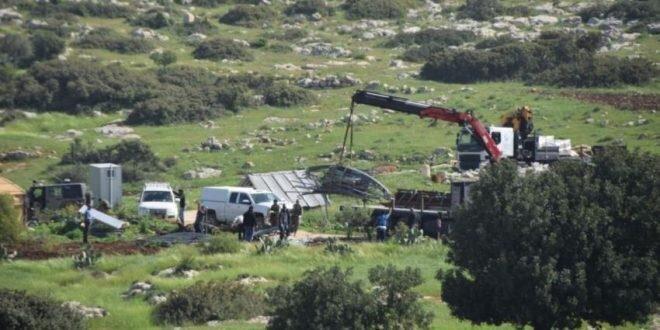 صهیونیست ها بیمارستان بیماران  کرونایی را در روستای فلسطینی تخریب کردند