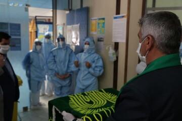 تصاویر/ مبارزان خط مقدم استان یزد میزبان پرچم مطهر رضوی