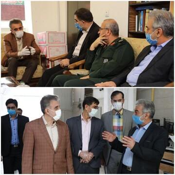 بازدید رئیس دانشگاه علوم پزشکی قم از فعالیت قرارگاه مردمی مبارزه با ویروس کرونا