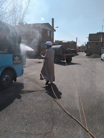 تصاویر شما/ خدمات داوطلبانه طلاب جهادی در مبارزه با کرونا