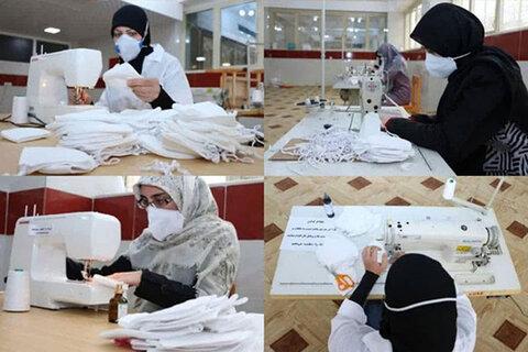 تولید ماسک توسط خانواده طلاب شهرکرد