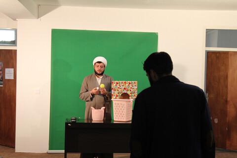تصاویر/ ضبط فیلم آموزشی بازی های والدین با کودکان توسط طلاب همدانی