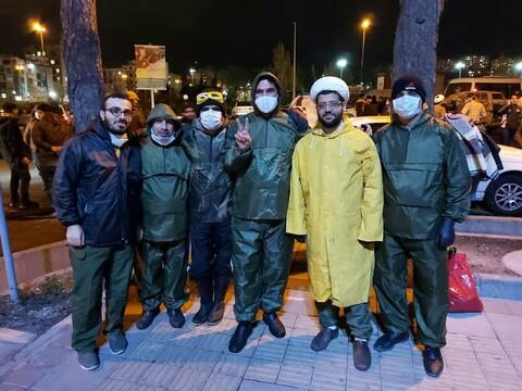 تصاویر شما/ خدمت رسانی طلاب جهادی در مبارزه با ویروس کرونا