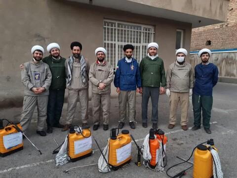 تصاویر / فعالیت گروههای جهادی طلاب و روحانیون برای مقابله با ویروس کرونا