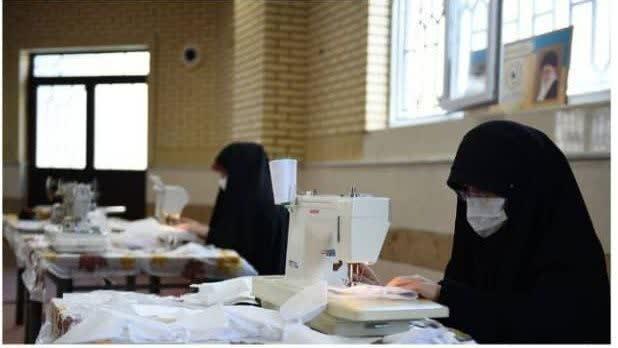 تولید ۸ هزار ماسک در مدرسه علمیه حضرت آمنه(س)