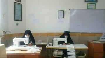 جهاد بانوان طلبه سرخس برای شکست کرونا