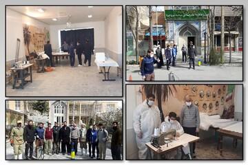 تولید ماسکهای سه لایه استاندارد در قرارگاه جهادی حضرت خدیجه(س) بروجرد
