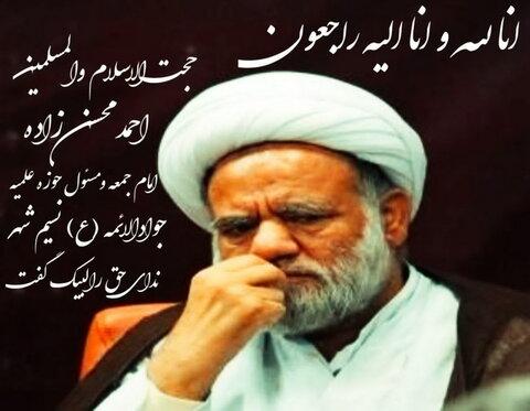 حجت الاسلام محسن زاده امام جمعه نسیم شهر