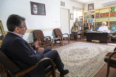 دیدار ایت الله ناصری با رییس صمت