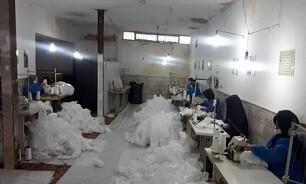 تولید روزانه ۲۰ هزار ماسک بهداشتی در ناحیه امام رضا (ع) قم