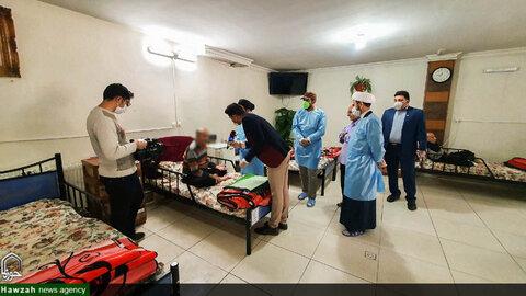 بازدید و ضدعفونی خانه سالمندان آسمان توسط قرارگاه جهادی طلاب حوزه علمیه اصفهان