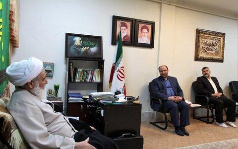 آیت الله علماء در دیدار پیش از ظهر امروز با مدیر کل صدا و سیمای مرکز کرمانشاه