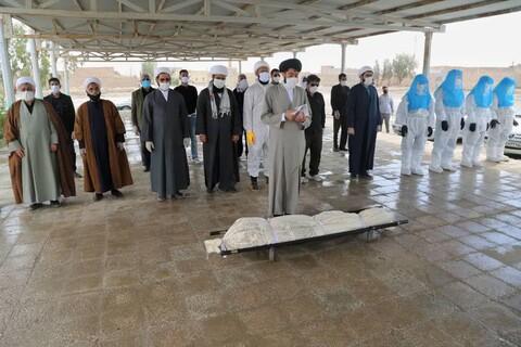 تجهيز ضحايا الكورونا ودفنهم على يد طلاب العلوم الدينية بمدينة زابل شرقي إيران
