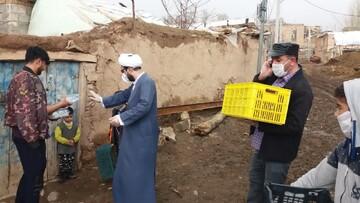 تصاویر | فعالیتهای جهادی طلاب و بسیجیان آذربایجان شرقی در مبارزه با کرونا