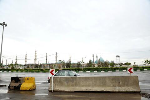 طرح فاصله گذاری اجتماعی در مسیرهای مسجد مقدس جمکران در شب نیمه شعبان