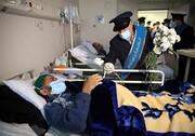 خادمان مسجد جمکران به عیادت بیماران کرونا رفتند