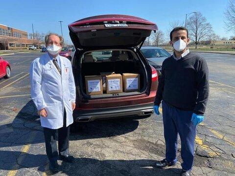 اعضای مسجد دیربورن ۵۰۰ ماسک بهداشتی به بیمارستان اهداء کردند