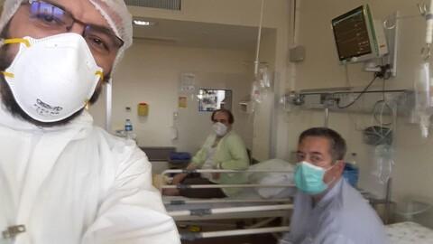 تصاویر/ خدمترسانی طلاب جهادی در بیمارستانهای قم