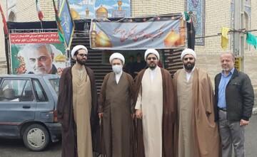 بازدید حجت الاسلام والمسلمین زمانی از فعالیت های جهادی مسجد امام حسن عسکری (ع) پردیسان