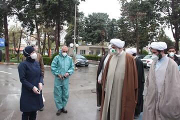"""بالصور/ مدير حوزة قزوين العلمية يتفقد مستشفى ومقبرة """"جنة فاطمة عليها السلام"""" لهذه المدينة"""