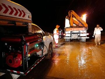 امدادرسانی به ۷۶ حادثه دیده از سیلاب قم