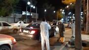 تصاویر شما/ ضدعفونی خودروها توسط طلاب بسیجی کرمان