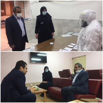 بازدید معاون درمان دانشگاه علوم پزشکی قم از فعالیت بیمارستان فرقانی قم