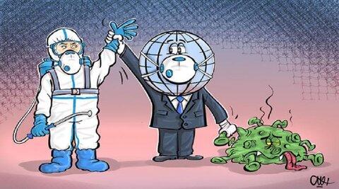 مسابقة للرسوم الكاريكاتيرية بموضوع كورونا في ايران