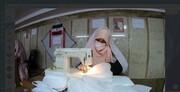 فیلم   مدرسه علمیهای که تبدیل به کارگاه دوخت ماسک شده است