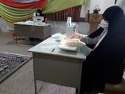 فعالیت جهادی طلاب مدرسه علمیه الزهرا(س) قروه در مبارزه با کرونا