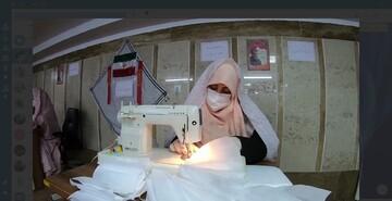 فیلم | مدرسه علمیهای که تبدیل به کارگاه دوخت ماسک شده است