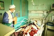 تصاویر شما/ بازدید امام جمعه بوئین زهرا از بیمارستان امیرالمومنین(ع) و عیادت از بیماران کرونایی