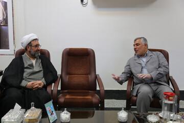 نشست مشترک مدیر حوزه علمیه خوزستان با مدیرکل کمیته امداد+عکس