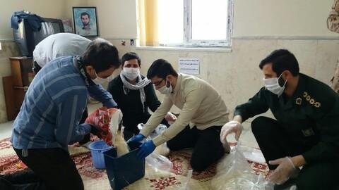 تصاویر / طلاب جهادی تبریز در خط مقدم مقابله با کرونا