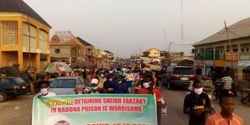 برگزاری تظاهرات آزادی شیخ زکزاکی همزمان با عید پاک در نیجریه+تصاویر