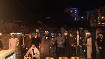 فعالیت قرارگاه جهادی طلاب شهرستان تالش در ایام کرونایی