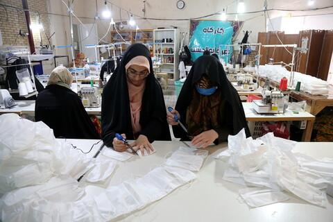 تصاویر/تهیه ماسک گروههای جهادی مسجد امام موسی کاظم(ع)
