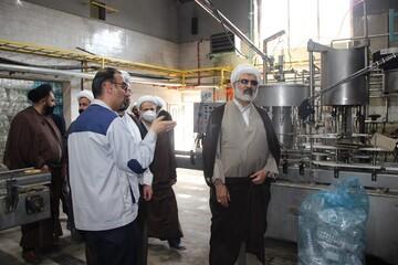 تصاویر| بازدید مدیر حوزه قزوین از خط تولید الکل و مواد ضد عفونی شرکت بیدستان
