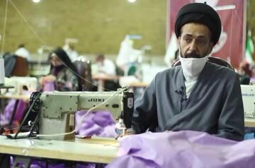 فیلم | خدمت مومنانه مردم اصفهان در تولید ماسک و گان پزشکی