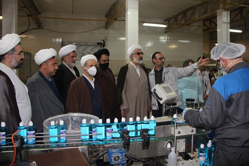 فیلم| بازدید مدیر حوزه علمیه قزوین از شرکت تولیدی الکل و مواد غذایی