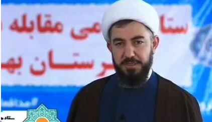 حجت الاسلام زارعی مدیر حوزه بهار